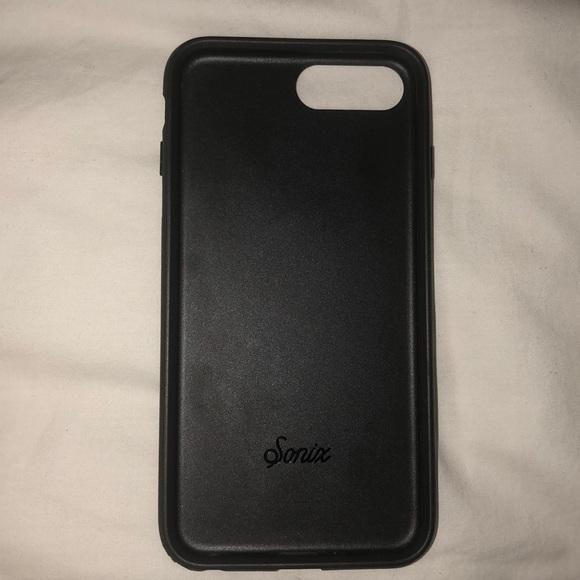 separation shoes 8d459 b4493 Sonix Black Faux Leather iPhone 8+ Case